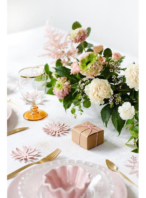 10 neliön muotoista voimapaperi lahjalaatikkoa - Rustic Wedding