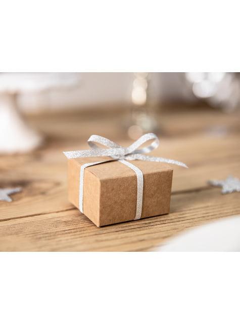 10 cajas de regalo cuadradas de papel Kraft - Rustic Wedding - para tus fiestas