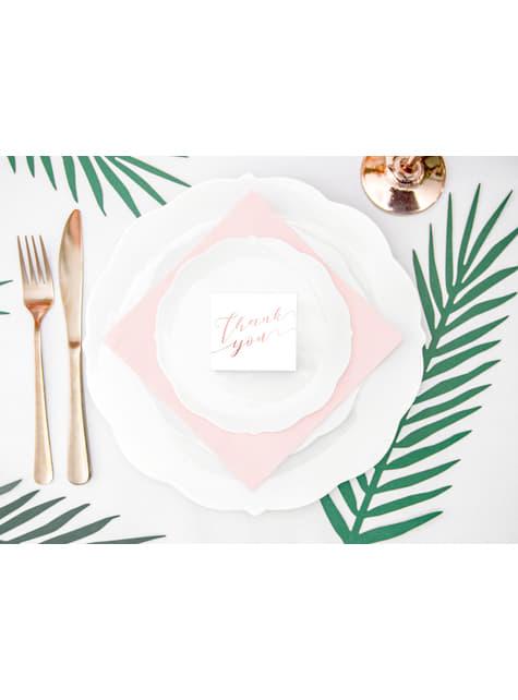 10 boîtes cadeaux blanches avec texte rose gold