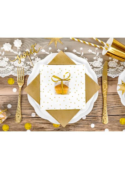 10 cajas cuadradas transparentes - Gold Wedding - para niños y adultos