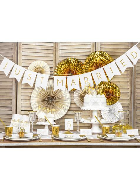10 cajas cuadradas transparentes - Gold Wedding - original