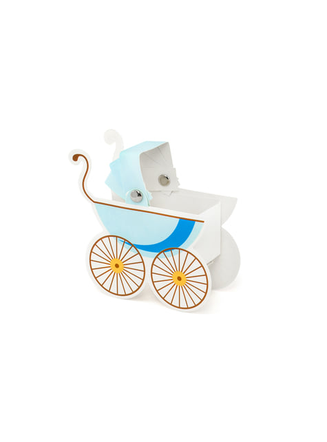 10 cajas de regalo con forma de coche de bebé azul - It's a Boy Collection