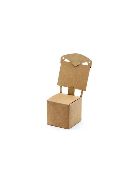 10 tuolin muotoista lahjalaatikkoa - Rustic Wedding