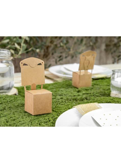 10 cajas de regalo en forma de silla - Rustic Wedding