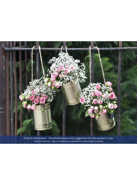 5 lattine dorate per auto nunziale - Rustic Wedding