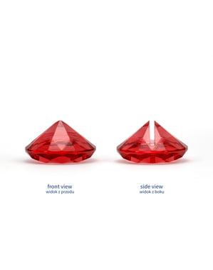 10 червени поставки за картички във формата на диамант