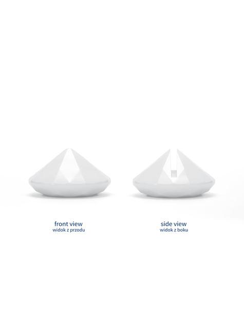 10 białe stojaki na wizytówki diament