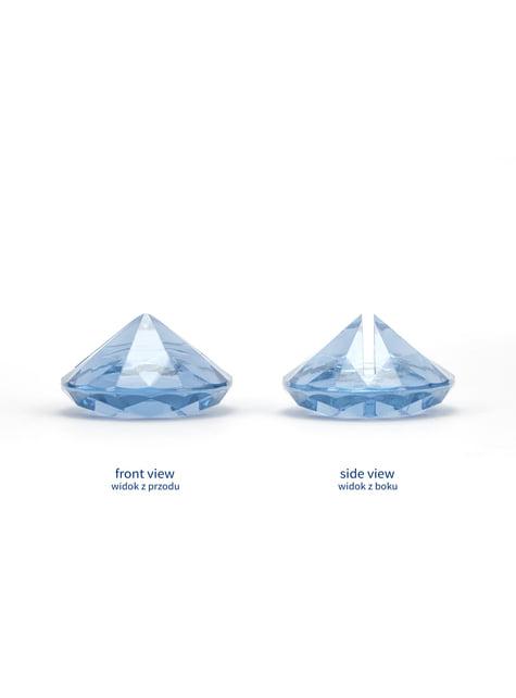 10 błękitne stojaki na wizytówki diament