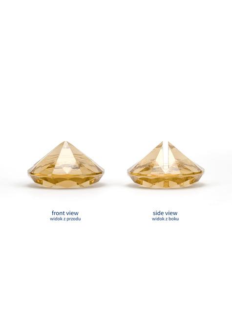 10 marque-places doré en forme de diamant