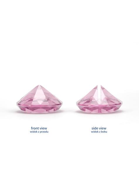 Conjunto de 10 porta cartões cor-de-rosa em forma de diamante