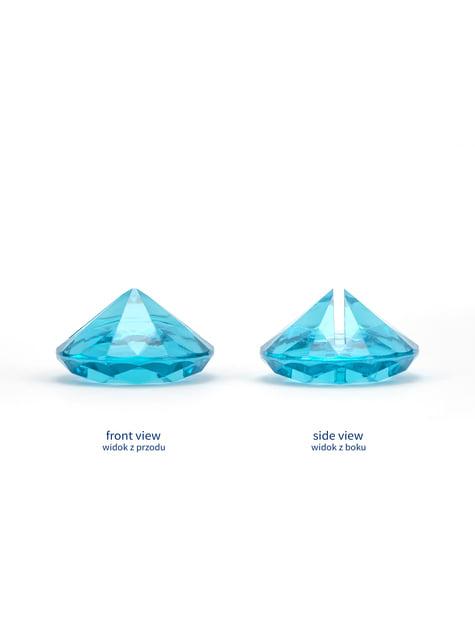 10 sujeta marcasitios azul turquesa con forma de diamante - para tus fiestas