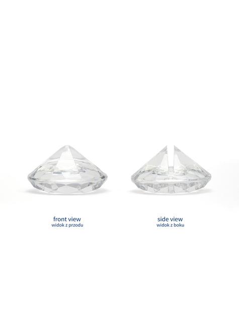 10 sujeta marcasitios transparente con forma de diamante - para tus fiestas