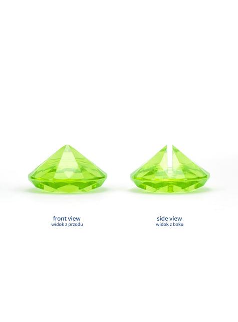 10 sujeta marcasitios verde claro con forma de diamante
