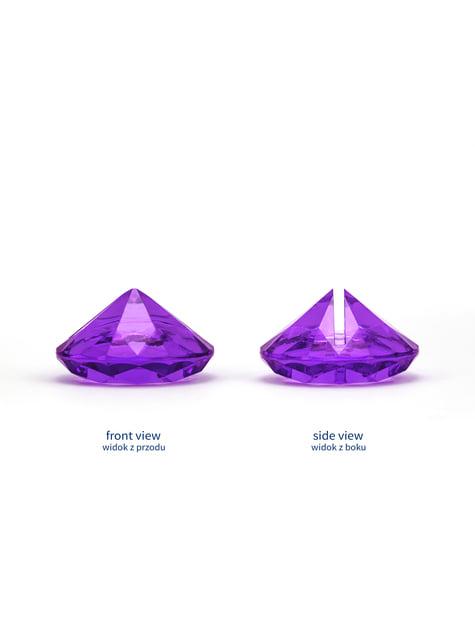 10 marque-places violet en forme de diamant