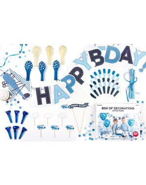 Planes and Clouds Party Decoration Kit - Little Plane