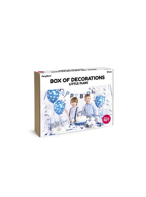 Kit de decoración fiesta - Little Plane - para tus fiestas