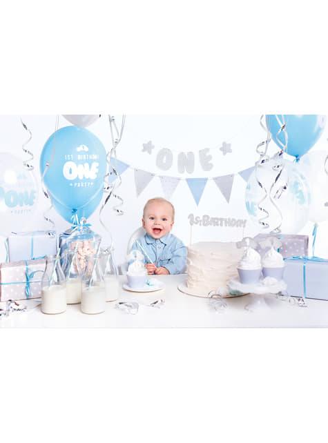 """Party dekorační set """"1st Birthday"""" v modré barvě - 1st Birthday"""