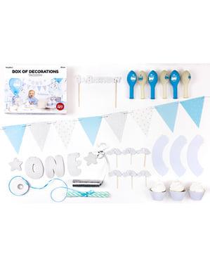 """""""Prvi rođendan"""" stranka dekoracija komplet u plavom - prvi rođendan"""