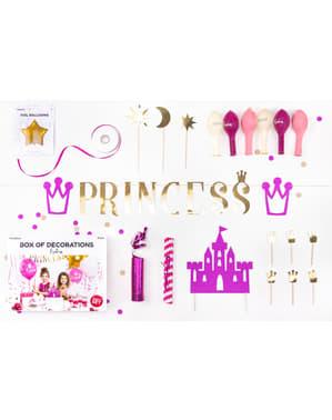 Dekorationsset för fest prinsessa - Princess