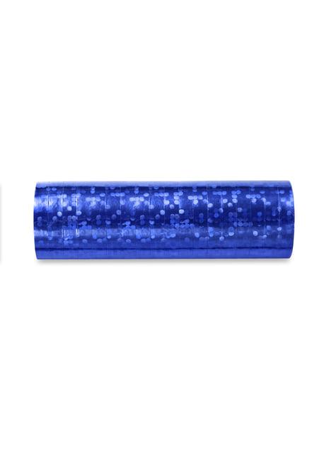 18 serpentins hologramme bleu