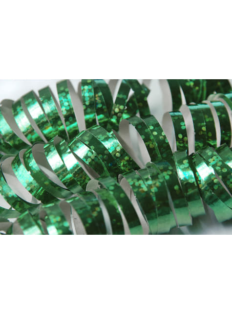 18 serpentins hologramme vert