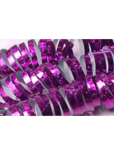 18 serpentins hologramme rose