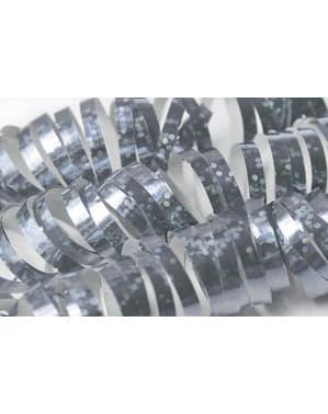 Készlet 18 holografikus szerpentin ezüst