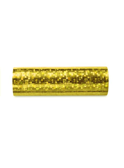 18 serpentins hologramme doré