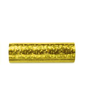 Set 18 streamer hologram dalam emas