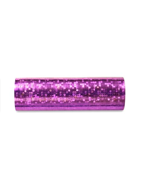 18 serpentins hologramme violet