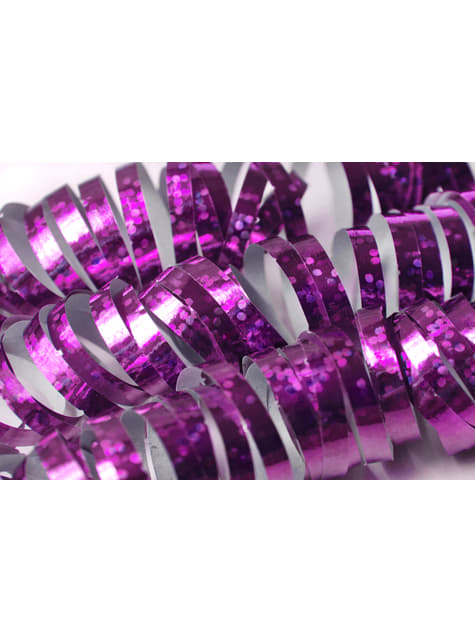 18 holographic streamers in purple