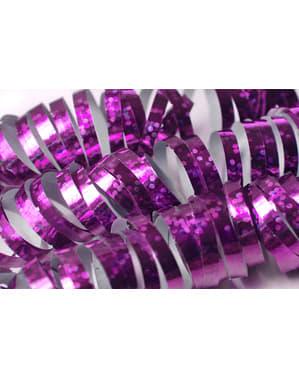 18 serpentinas holográficas moradas