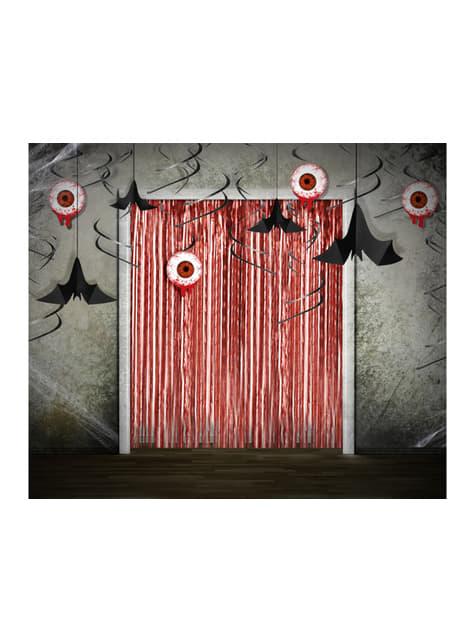 3 espirales colgantes rojos con ojos sangrientos - Halloween - barato
