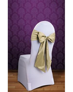 10 lazos dorados para sillas