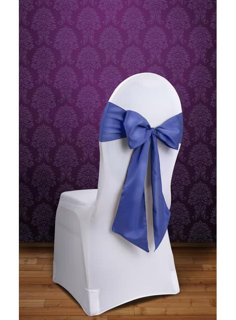 10 lazos azul oscuro para sillas - para tus fiestas