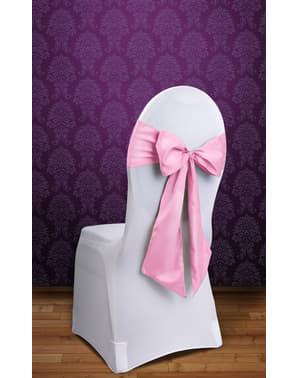 Sett med 10 stol sløyfer i pastell rosa