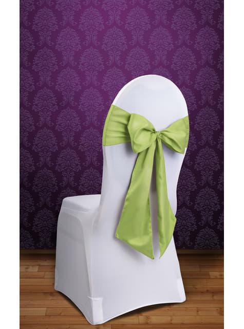 10 lazos verde claro para sillas - para tus fiestas