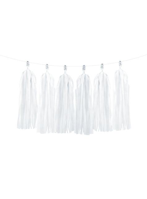 Guirnalda de flecos blancos - para decorar todo durante tu fiesta