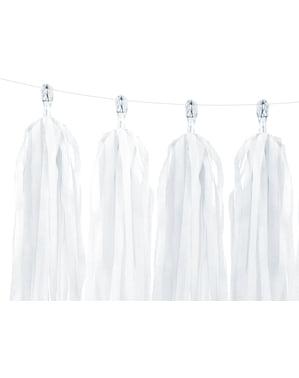 Garland dengan tassels putih