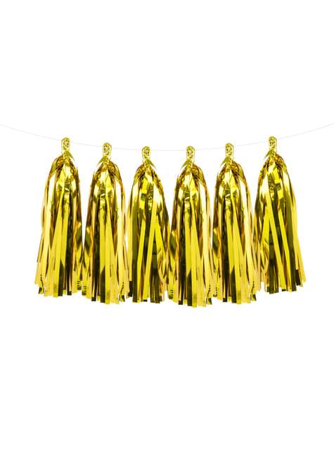 Guirnalda de flecos dorados - para niños y adultos