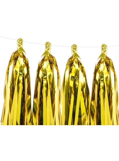 Guirnalda de flecos dorados