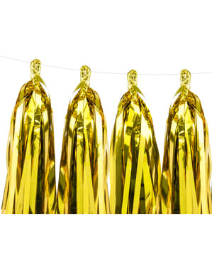Garland with gold tassels