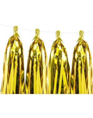 Grinalda de franjas  douradas