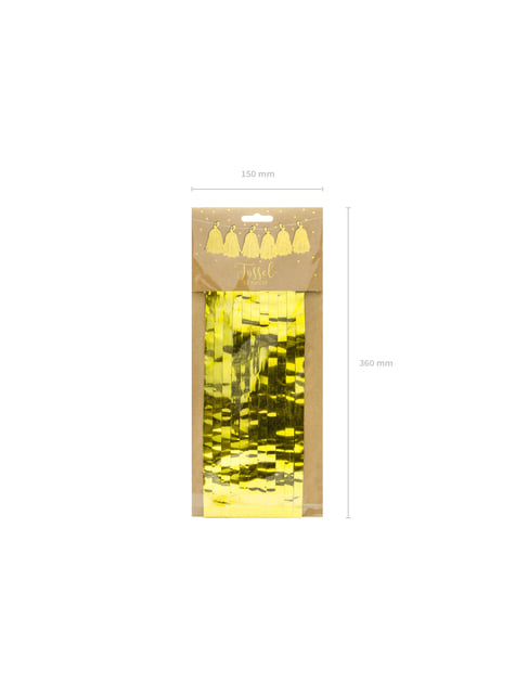 Guirnalda de flecos dorados - barato