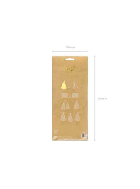 Guirnalda de flecos dorados - comprar