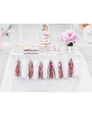Girlanda s růžovozlatými střapci
