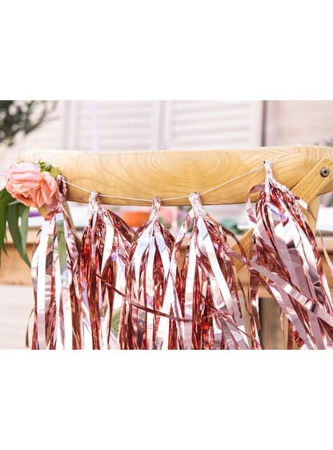 Guirnalda de flecos oro rosa - barato