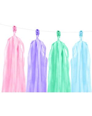 Girlander med flerfargede dusker - Yummy