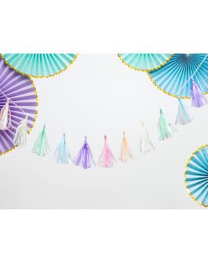 Grinalda de franjas  multicolor de 1,2 m - Yummy