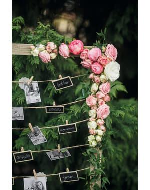 Set 2 dekorativních tabulí s kolíčky